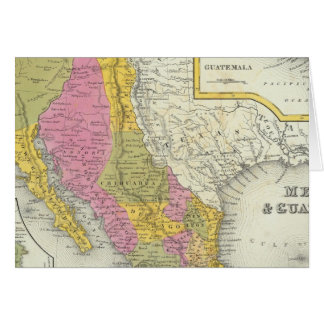 Le Mexique et le Guatemala Carte De Vœux