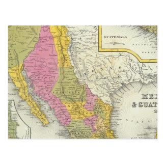 Le Mexique et le Guatemala Carte Postale