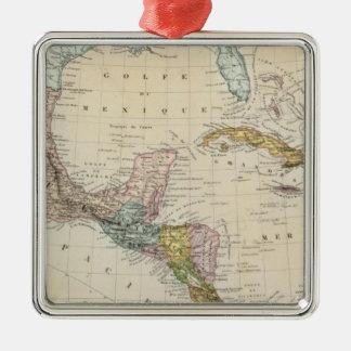 Le Mexique, Panama, Amérique Centrale Ornement Carré Argenté