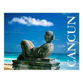 Le Mexique, plage de Cancun, Chac Mool Carte Postale