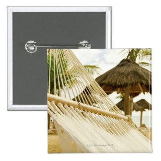 Le Mexique, Playa del Carmen, hamac sur la plage Badges