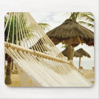 Le Mexique, Playa del Carmen, hamac sur la plage Tapis De Souris
