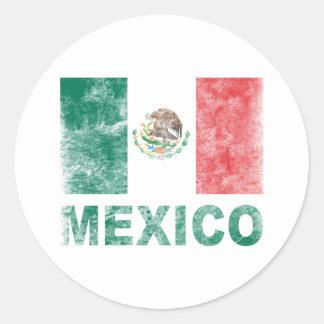 Le Mexique vintage Adhésif Rond