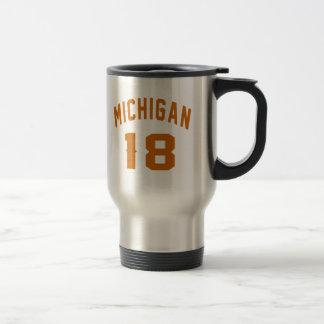 Le Michigan 18 conceptions d'anniversaire Mug De Voyage