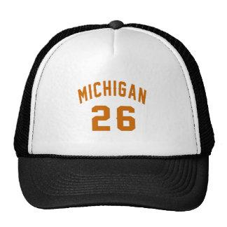 Le Michigan 26 conceptions d'anniversaire Casquette