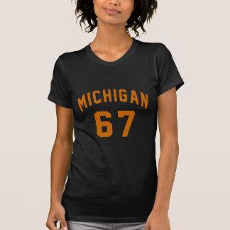Le Michigan 67 conceptions d'anniversaire T-shirt