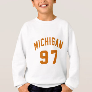 Le Michigan 97 conceptions d'anniversaire Sweatshirt