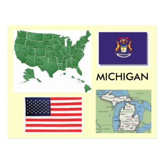 Le Michigan, Etats-Unis Carte Postale