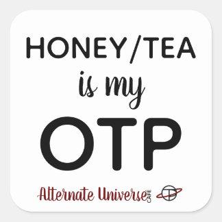 Le miel/thé est mes autocollants d'OTP