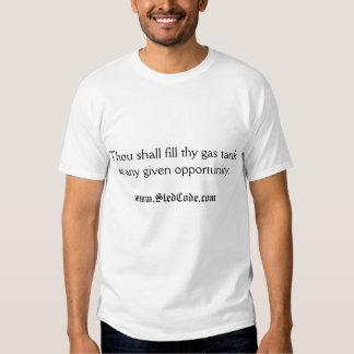 """Le """"mille remplira thy réservoir de gaz à donné """" t-shirts"""