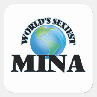 Le Mina le plus sexy du monde Stickers Carrés