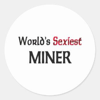 Le mineur le plus sexy du monde adhésifs ronds