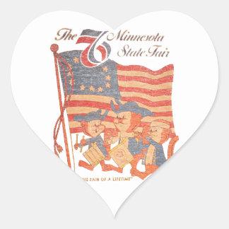 Le Minnesota 1976 juste Sticker Cœur