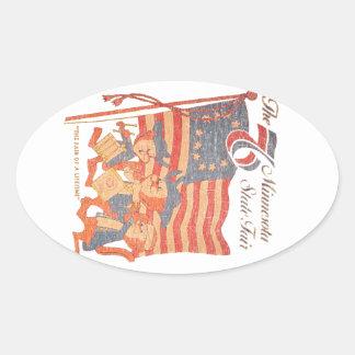 Le Minnesota 1976 juste Sticker Ovale