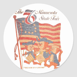 Le Minnesota 1976 juste Sticker Rond