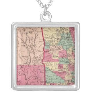 Le Minnesota et le Dakota Pendentif Carré
