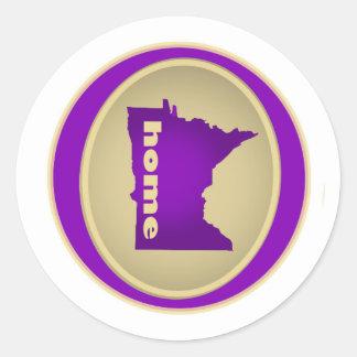 Le Minnesota :  Maison Sticker Rond