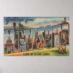 Le Minnesota (phare) - grandes scènes de lettre Posters