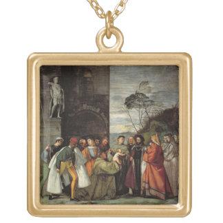 Le miracle du discours de l'enfant nouveau-né, 15 collier plaqué or
