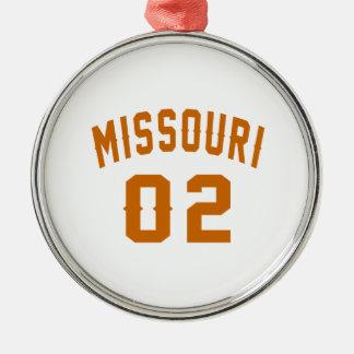 Le Missouri 02 conceptions d'anniversaire Ornement Rond Argenté