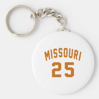Le Missouri 25 conceptions d'anniversaire Porte-clé Rond