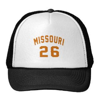 Le Missouri 26 conceptions d'anniversaire Casquettes