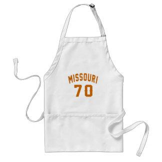 Le Missouri 70 conceptions d'anniversaire Tablier