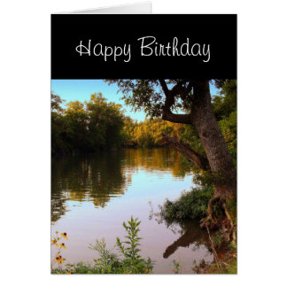 Le Missouri Shoal Creek à la carte d'anniversaire