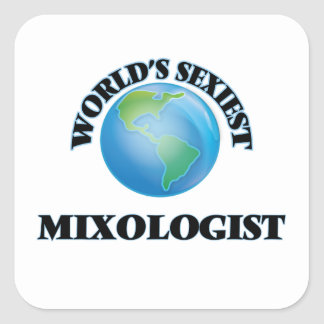 Le Mixologist le plus sexy du monde Sticker Carré