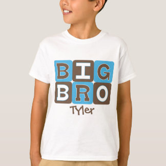 Le mod bloque grand Bro - bleu et Brown T-shirt