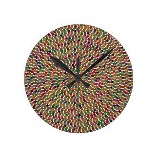 Le modèle décoratif do-it-yourself de vague horloges