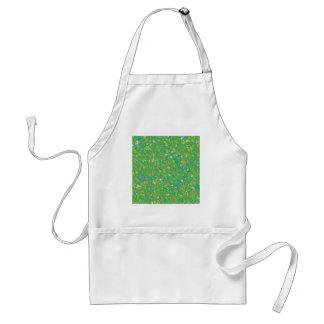 Le MODÈLE vert élégant de confettis ajoutent Tabliers