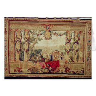 Le mois du château d'octobre du Tuileries Carte De Vœux