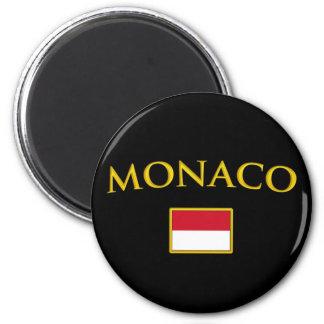 Le Monaco d'or Magnet Rond 8 Cm