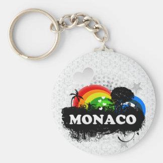 Le Monaco fruité mignon Porte-clé Rond