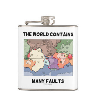 Le monde contient la tectonique de plat de flasques