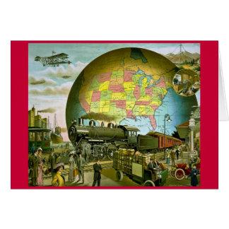 Le monde du transport 1910 carte de vœux
