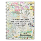 Le monde est une CITATION de VOYAGE de livre