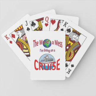 Le monde est une croisière drôle de désordre cartes à jouer