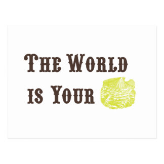 Le monde est votre carte postale d'huître