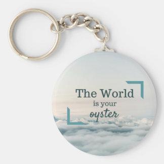 Le monde est votre huître porte-clé rond