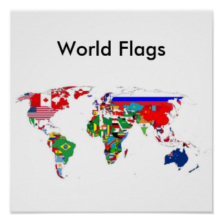 Le monde marque l'affiche affiche