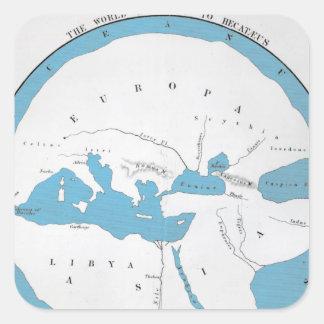 Le monde selon Hecataeus Stickers Carrés