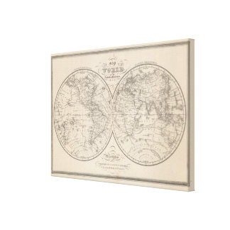 Le monde sur la projection globulaire toiles