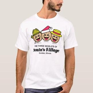 Le monde trois du village de Père Noël, Dundee, IL T-shirt