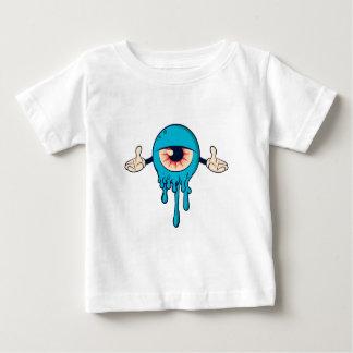 Le monstre observé par bleu de garçons t-shirt pour bébé
