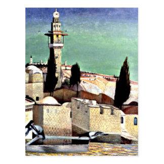 Le mont des Oliviers à Jérusalem Carte Postale