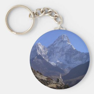 Le mont Everest 4 Porte-clé Rond