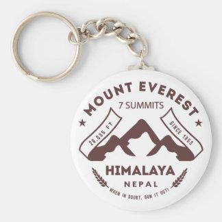 Le mont Everest Népal Porte-clé Rond