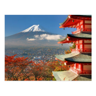 Le mont Fuji a regardé par derrière la pagoda de Carte Postale